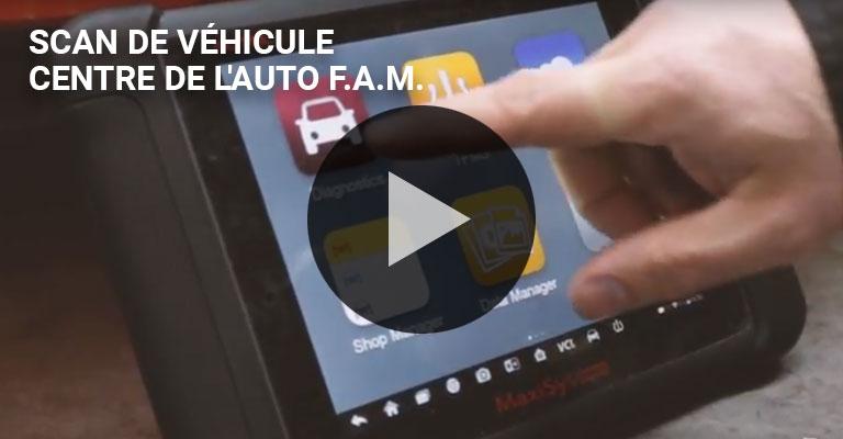 Un scanneur de véhicule au Centre auto FAM