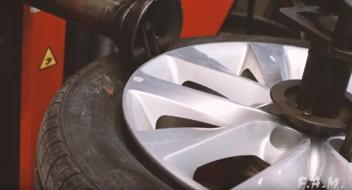 Montage de roue d'aluminium